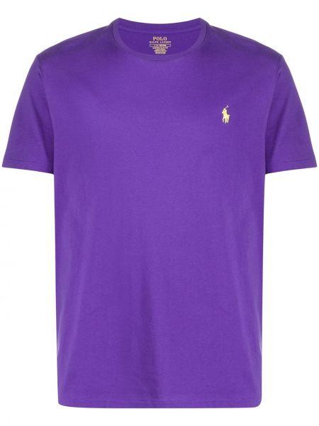 Koszula krótkie z krótkim rękawem fioletowy karmazynowy Polo Ralph Lauren