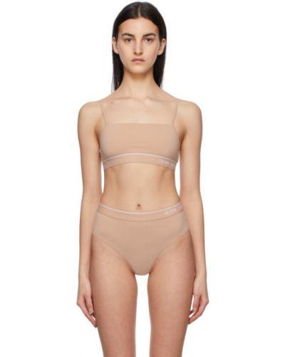 Biały bralet z nylonu Calvin Klein Underwear
