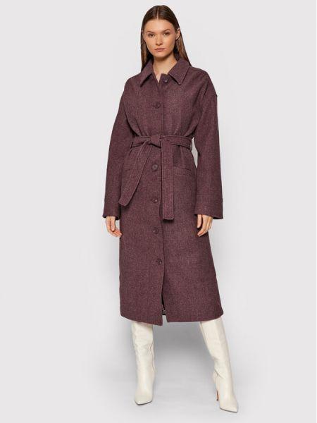 Płaszcz - bordowy Na-kd
