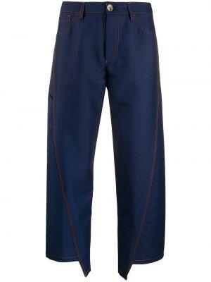 Свободные брюки с карманами на пуговицах Lanvin