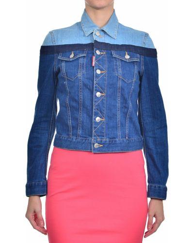 Хлопковая куртка - синяя Dsquared2