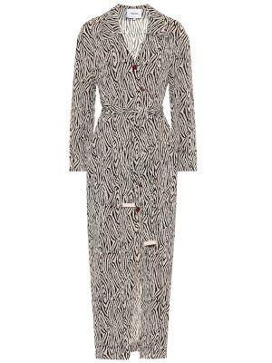 Платье макси сафари с принтом Nanushka