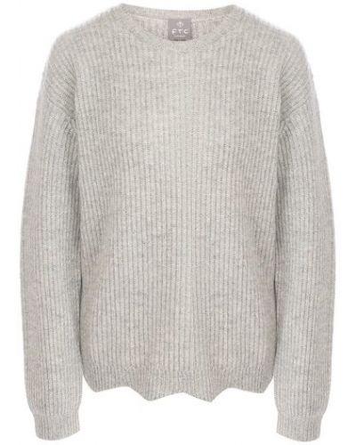 Серый кашемировый свитер со спущенными плечами Ftc