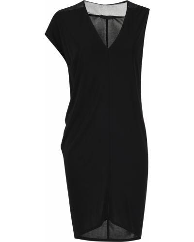 Платье из вискозы - черное Costume National