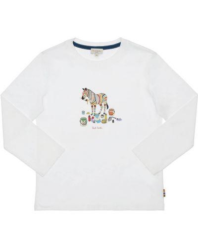 Bawełna bawełna biały koszula Paul Smith Junior