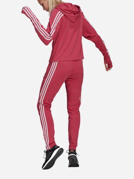 Розовый спортивный костюм с капюшоном на молнии Adidas
