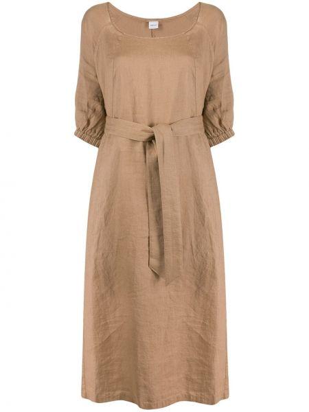 Платье бежевое льняное Aspesi