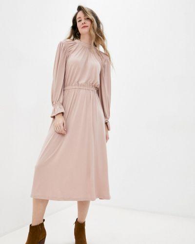 Прямое бежевое платье Top Secret