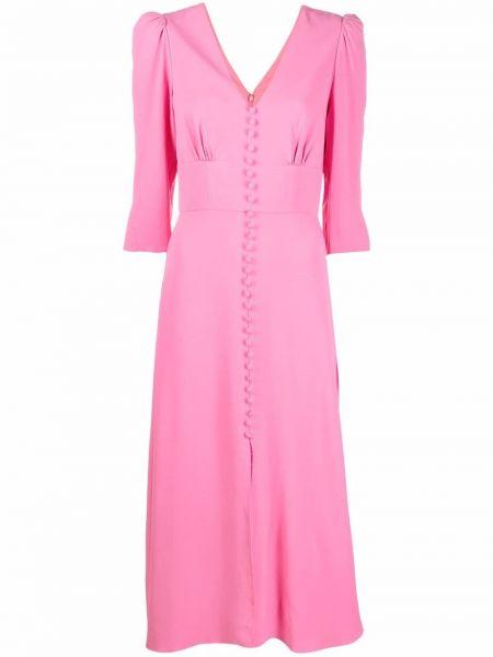 Розовое платье с подкладкой Saloni