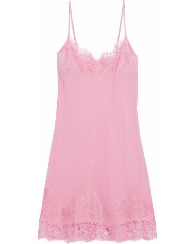 Koszula nocna bawełniana - różowa Lise Charmel
