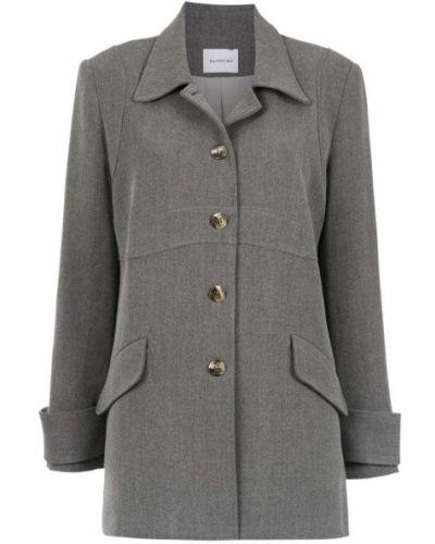 Серое пальто классическое с воротником Olympiah