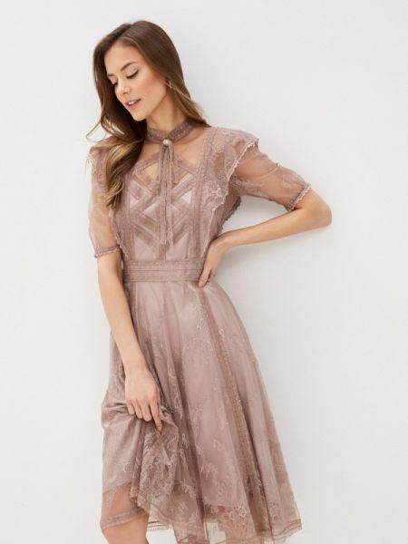 Вечернее платье розовое весеннее Lusio