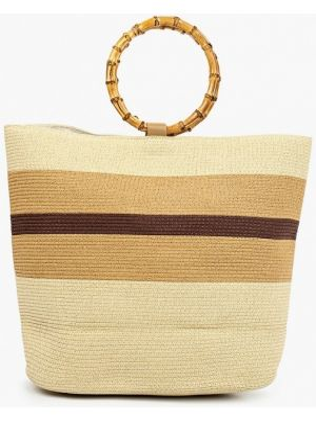 Пляжная сумка соломенная бежевый Fabretti