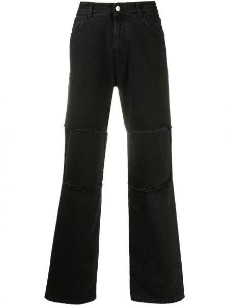 Черные с завышенной талией классические брюки с карманами Raf Simons