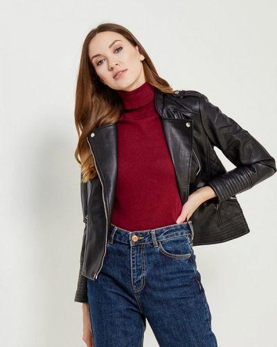 Кожаная куртка черная осенняя Nice & Chic