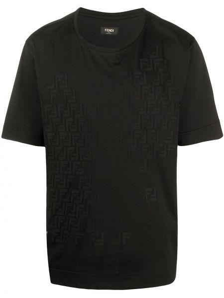 Koszula krótkie z krótkim rękawem czarna Fendi
