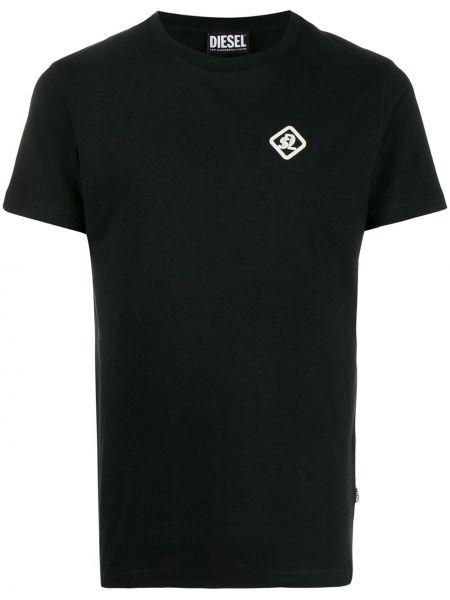 Футболка черная с логотипом Diesel