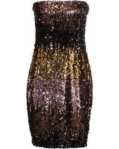 Вечернее платье с пайетками без бретелек Bonprix