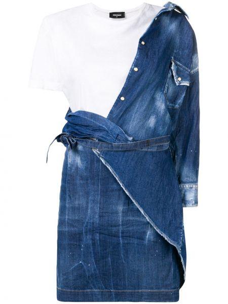Джинсовое платье футболка с поясом Dsquared2