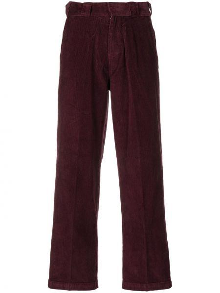 Фиолетовые брюки вельветовые с карманами Dickies