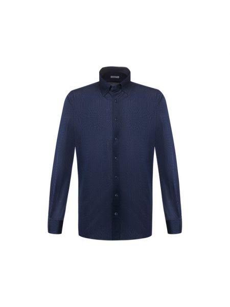 Хлопковая синяя рубашка Zilli