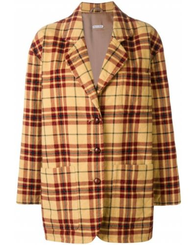 Куртка в клетку на пуговицах Emporio Armani Vintage