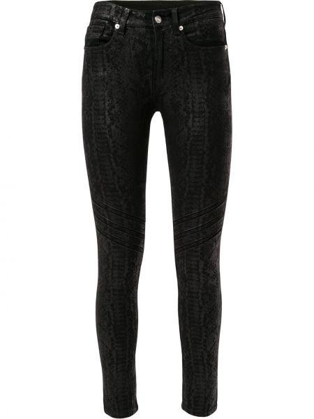 Классические облегающие черные джинсы-скинни из вискозы Redemption