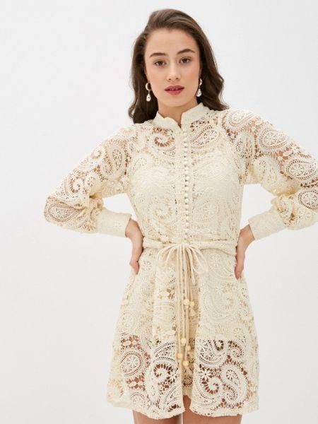 Платье прямое бежевое Fadas