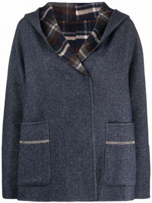 Синее пальто с накладными карманами Fabiana Filippi