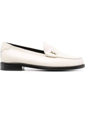 Loafers, biały Saint Laurent