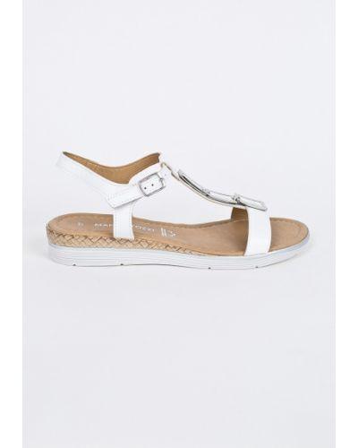 Белые сандалии Marco Tozzi