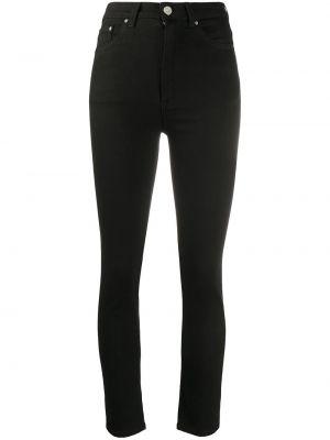Czarne jeansy bawełniane z paskiem Toteme