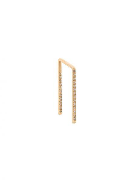 Золотистые желтые золотые серьги с декоративной отделкой Shihara