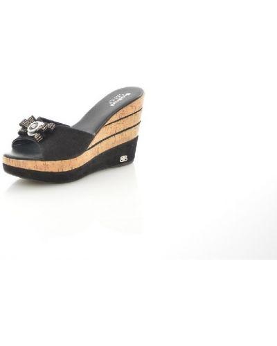 Сабо черные на каблуке Baldinini