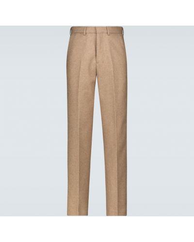 Beżowe spodnie wełniane Ami