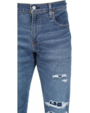 Niebieskie jeansy bawełniane Levi's Red Tab
