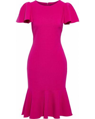 Текстильное розовое платье на крючках Badgley Mischka