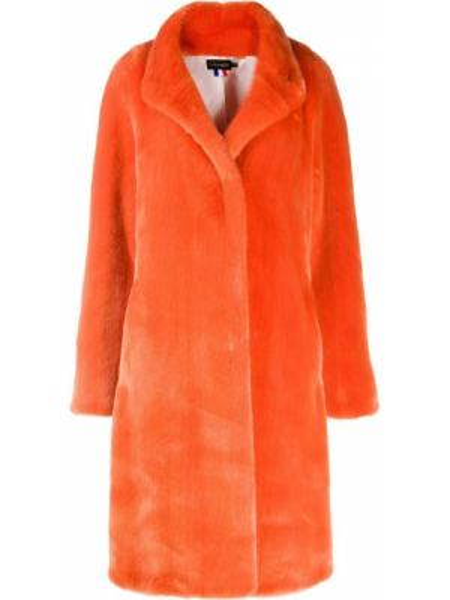 Оранжевое акриловое пальто свободного кроя с карманами La Seine & Moi