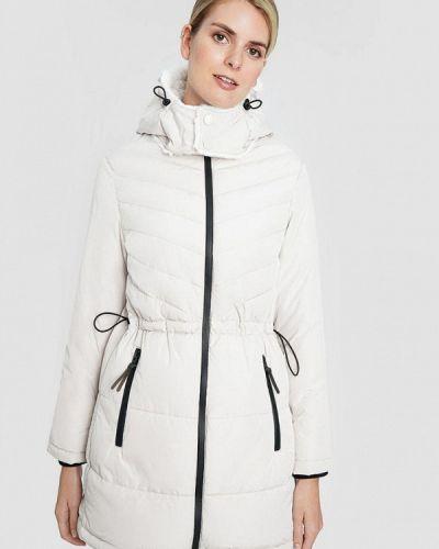 Бежевая теплая утепленная куртка O'stin