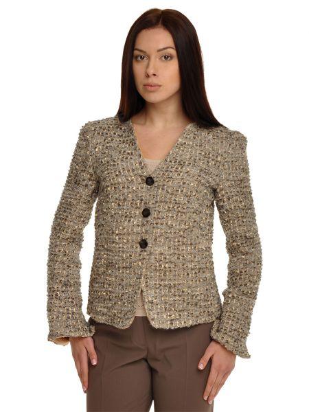 Шерстяной коричневый пиджак Armani Collezioni