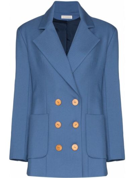 Классический пиджак шерстяной двубортный Vika Gazinskaya