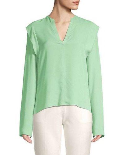 Шелковая блузка с длинными рукавами бохо Derek Lam