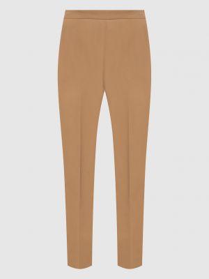 Повседневные бежевые брюки Prada