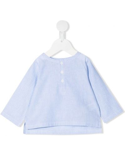 Блузка в полоску с длинными рукавами с вырезом Douuod Kids