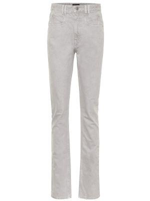 Szary bawełna bawełna jeansy na wysokości okrągły Isabel Marant
