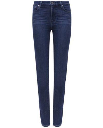 Хлопковые синие джинсы Paige