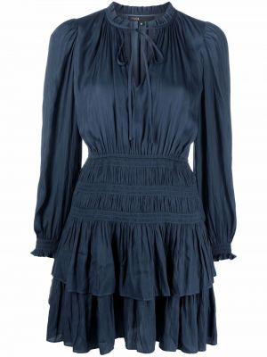 Sukienka długa z długimi rękawami - niebieska Maje