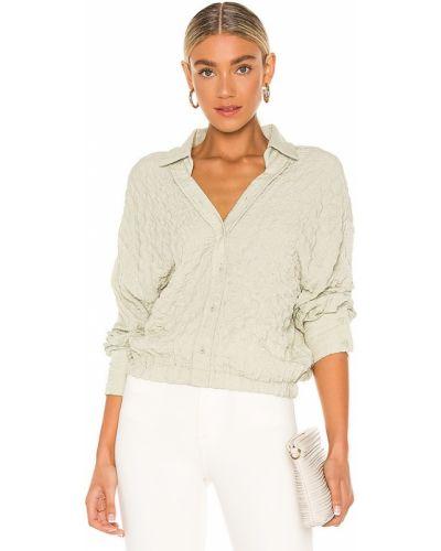 Блузка на резинке винтажная с манжетами Line & Dot