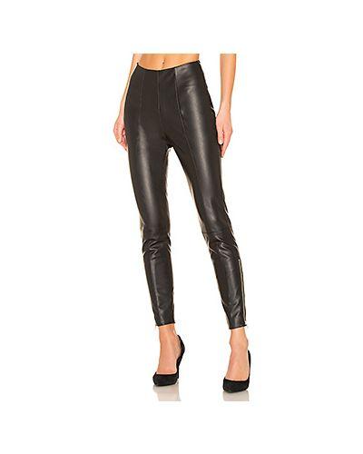 Кожаные черные брюки на молнии с разрезом Lovers + Friends