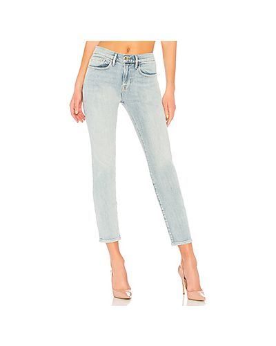 Прямые джинсы с эффектом потертости с карманами Frame